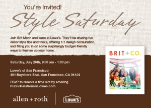 Lowe's Style Saturday Event_SF Brit Morin